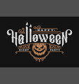 halloween night vintage style emblem on a dark vector image