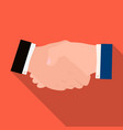 handshake e-commerce single icon in flat style vector image vector image