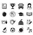 kindergarten school education icons vector image