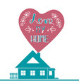 lettering quote poster love my home vector image