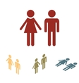 Male and female sign isolated set vector image vector image