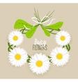 Meadow flower wreath vector image vector image