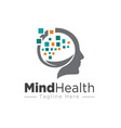 mind health medicine and nature logo designs vector image