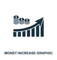 money increase graphic icon mobile apps printing vector image vector image