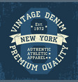 new york vintage grunge graphic for t-shirt vector image vector image