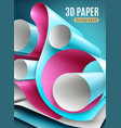 paper roll background vector image vector image