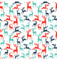 pattern of silhouette deer vector image