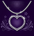 Platinum necklace with brilliants vector image vector image