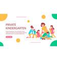 private kindergarten horizontal banner vector image