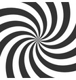 psychedelic spiral black and white hypnotic swirl vector image