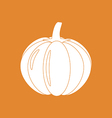 Pumpkin Vegetable Icon vector image vector image