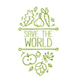 Save the World Banner vector image vector image