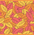 seamless abstract autumn background with leaves vector image