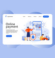 secure online payment people buy in mobile store vector image
