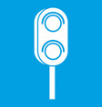 semaphore trafficlight icon white vector image vector image