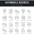 set line icons automobile business vector image