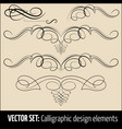 set of calligraphic and page vector image vector image
