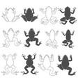 set of with tree and river frogs vector image vector image