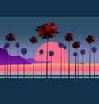 summer vacation road tropical beach sunset ocean vector image