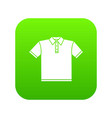 t-shirt icon green vector image vector image