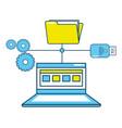 technology laptop cartoon vector image