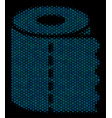 toilet paper roll collage icon of halftone circles vector image