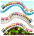 train pattern toy vector image vector image