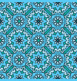 turquoise ornamental pattern vector image