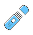 usb flash drive external data storage color icon vector image