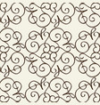 vintage monochrome linear seamless pattern vector image vector image