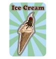 vintage retro posterof a hand drawn ice cream vector image vector image