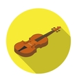 Violin icon in flat style isolated on white vector image vector image