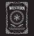 western border vintage frame flourish banner vector image vector image