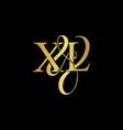 xl x l logo initial mark vector image vector image