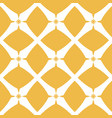 yellow geometric grid texture abstract ornamental vector image