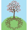blooming tree vector image