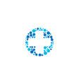 medical symbol blue cross pharmacy sign vector image