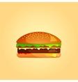 Simple Burger Icon eps 10 vector image