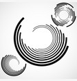 abstract background of circles with lines vector image vector image