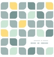 Abstract gray yellow rounded squares frame corner vector image