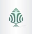 abstract green tree with lines vector image vector image