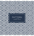 abstract hexagonal line pattern background design vector image vector image