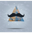 abstract hipster background with triangle and vector image vector image