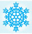 abstract snowflake icon vector image vector image