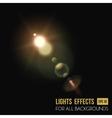 Abstract sun in zenith light effect through lens vector image vector image