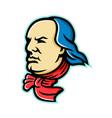 benjamin franklin mascot vector image vector image