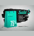 black friday sale advertisement realistic vector image vector image