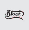 black friday sale calligraphy abstract vector image