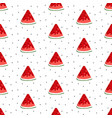 bright seamless pattern with watermelon slices vector image vector image