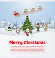 christmas postcard with christmas character vector image vector image